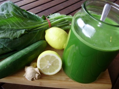 Dieta anticâncer: suco verde
