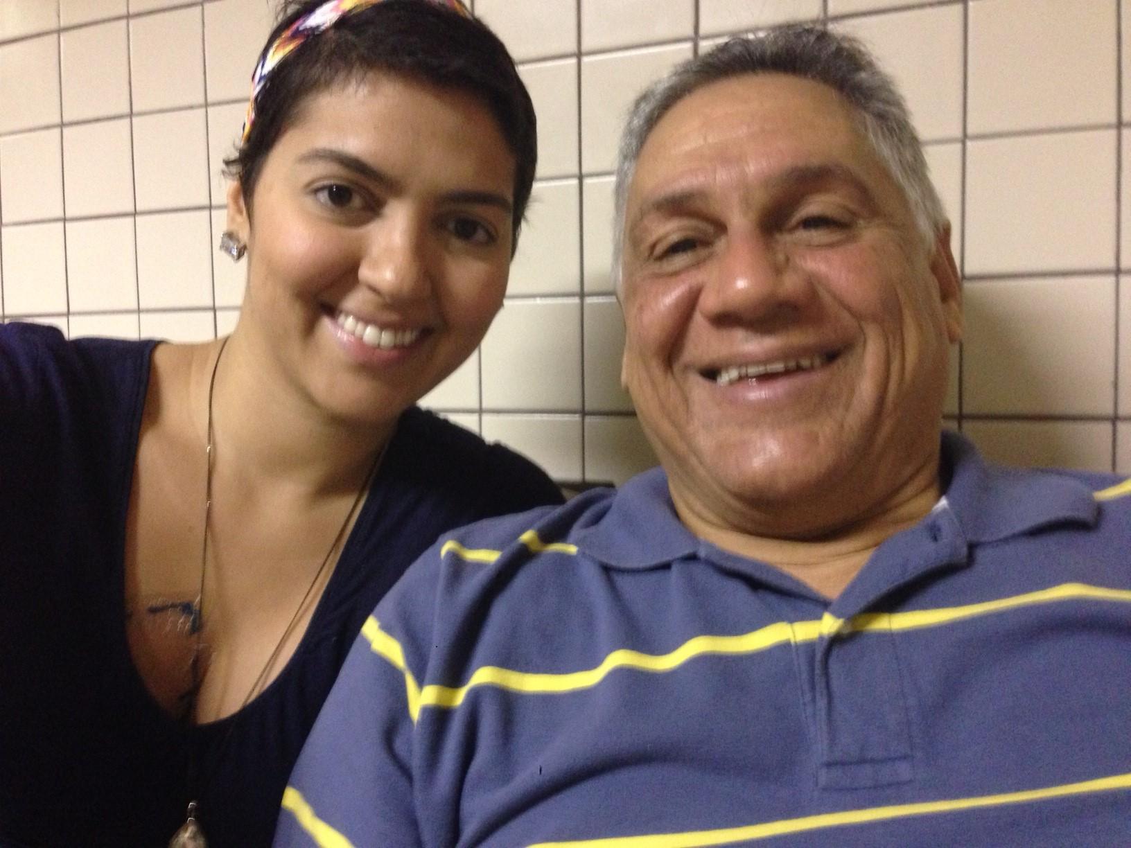 Eu e meu pai na radioterapia
