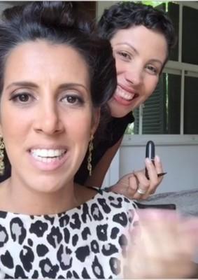 Olha o dia que fui na casa dela e a conheci pessoalmente! Ela me contratou como maquiadora para um evento que ia participar