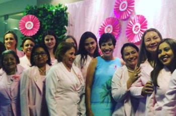 Outubro Rosa com a Rede feminina de Combate ao Câncer- Corumbá MS