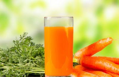 cenoura e suco de cenoura