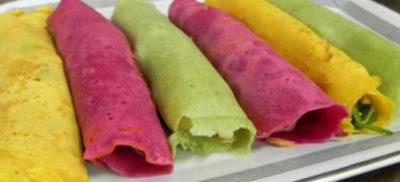 receita de panqueca funcional colorida